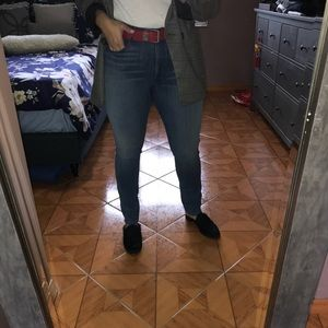 3X1 CHANNEL HIGH RISE SKINNY JEAN in TERAS